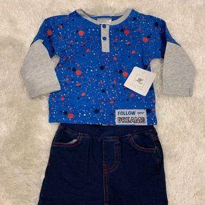 NEW Rosie Pope Tee & Jeans Set